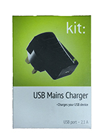 USB Mains Charger Standalone